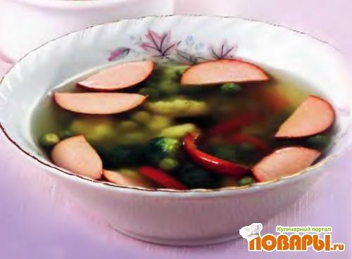 Рецепт Суп гороховый с сосисками