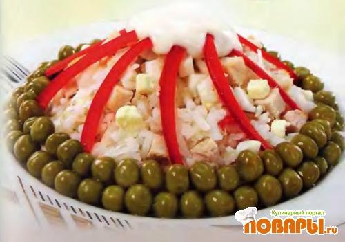 Рецепт Салат рисовый с мясом