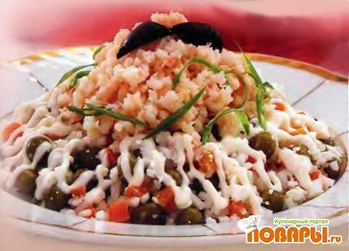 Рецепт Салат рисовый с мясом криля