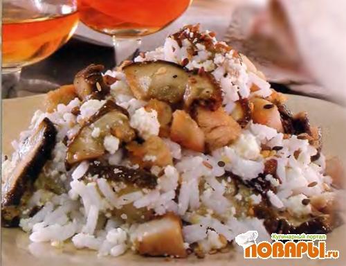 Рецепт Рис с белыми грибами