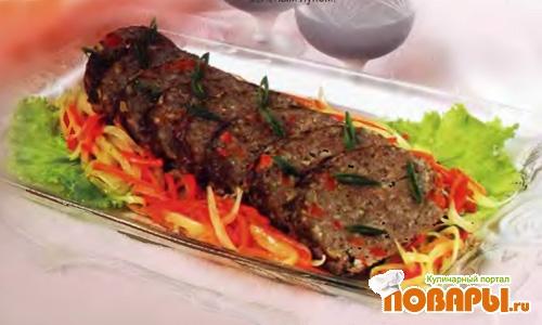 Рецепт Рулет мясной с рисом и овощами