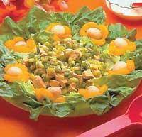 Рецепт Мясной салат с одуванчиками
