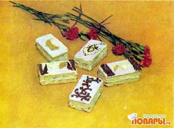 Рецепт Пирожное песочное с кремом