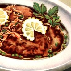 Рецепт Шницель из телятины с каперсами
