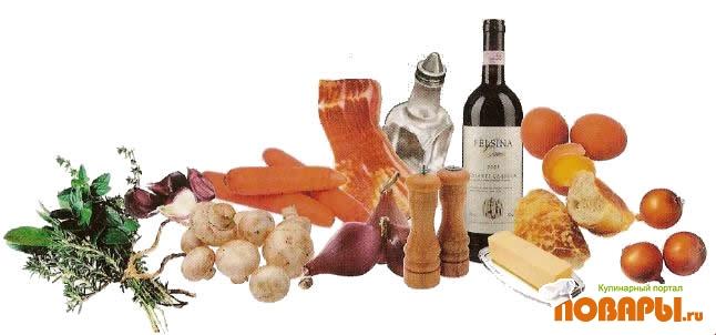 Рецепт Яйца в красном вине