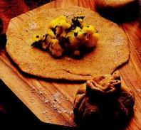 Рецепт Лепешки с картофелем (Алу паратха)