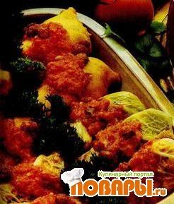 Рецепт Голубцы с орехами и творогом (Бандгобхи кофта)