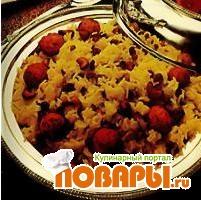Рецепт Рис с сырными шариками и шафраном