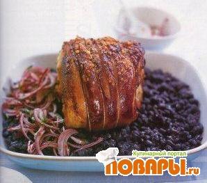 Рецепт Запеченая свиная нога