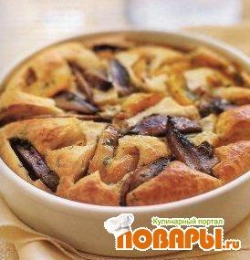 Рецепт Торта Паулиста (пирог с грибами и тыквой)