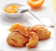 Рецепт Оладьи из абрикосов с соусом из манго с корицей