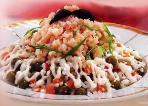 Рецепт Испанский рисовый салат Сантьяго