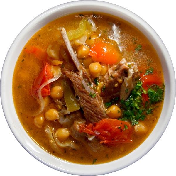 Рецепт Бозбаш (Азербайджано-Армянский мясной суп из баранины с разнообразными овощами и фруктами)