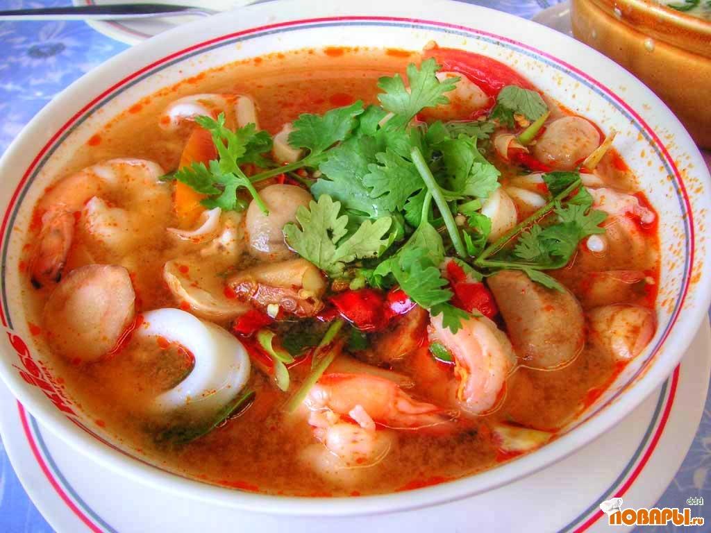 Рецепт Тайский суп Том Ям Кунг
