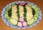 Салат из кальмаров и ветчины