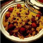 Рис с сырными шариками и шафраном