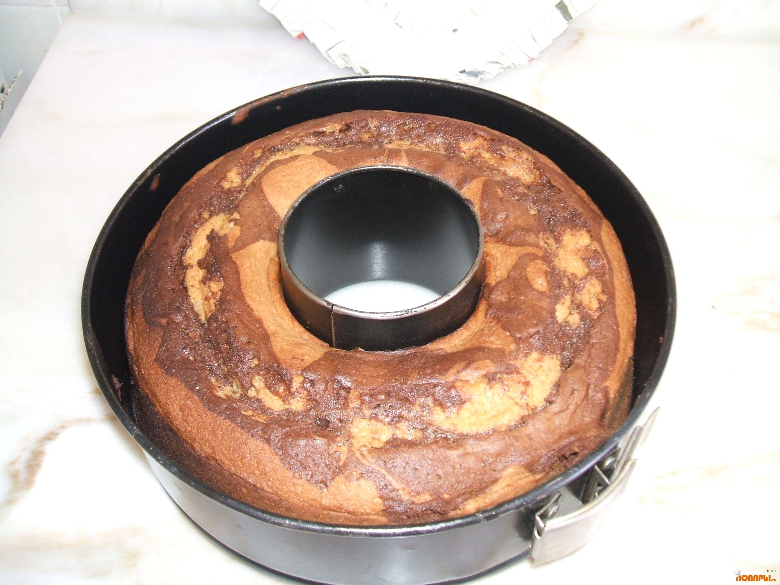 Рецепт Мраморный бисквит.