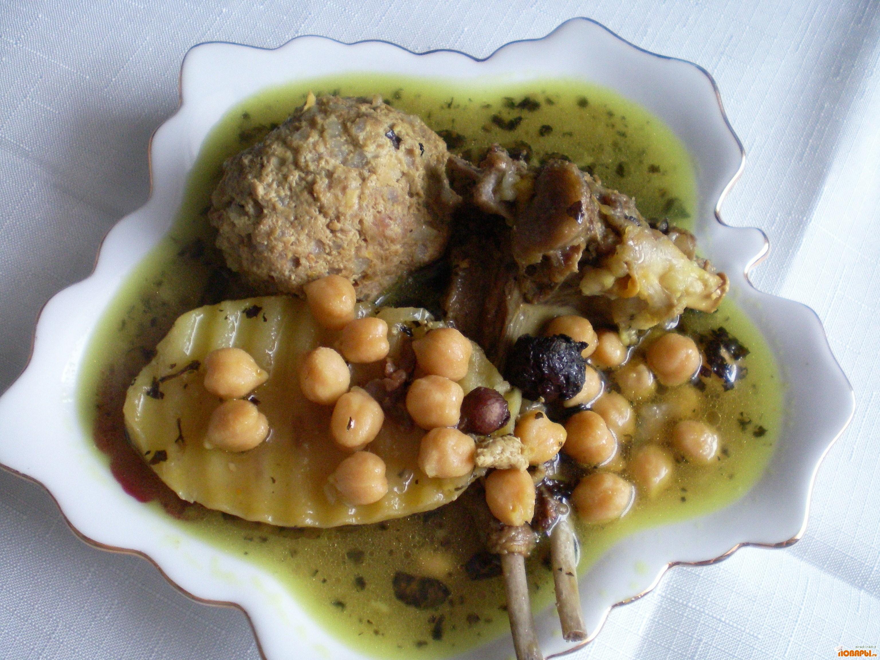 Рецепт кюфта парча бозбаш -Азербайджанская кухня
