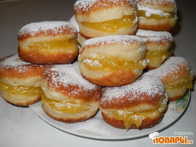 Рецепт Пончики с лимонным кремом