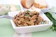 Рецепт Салат грибной с сельдью и овощами.
