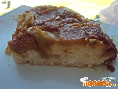 Рецепт Творожная запеканка с карамелизованными яблоками