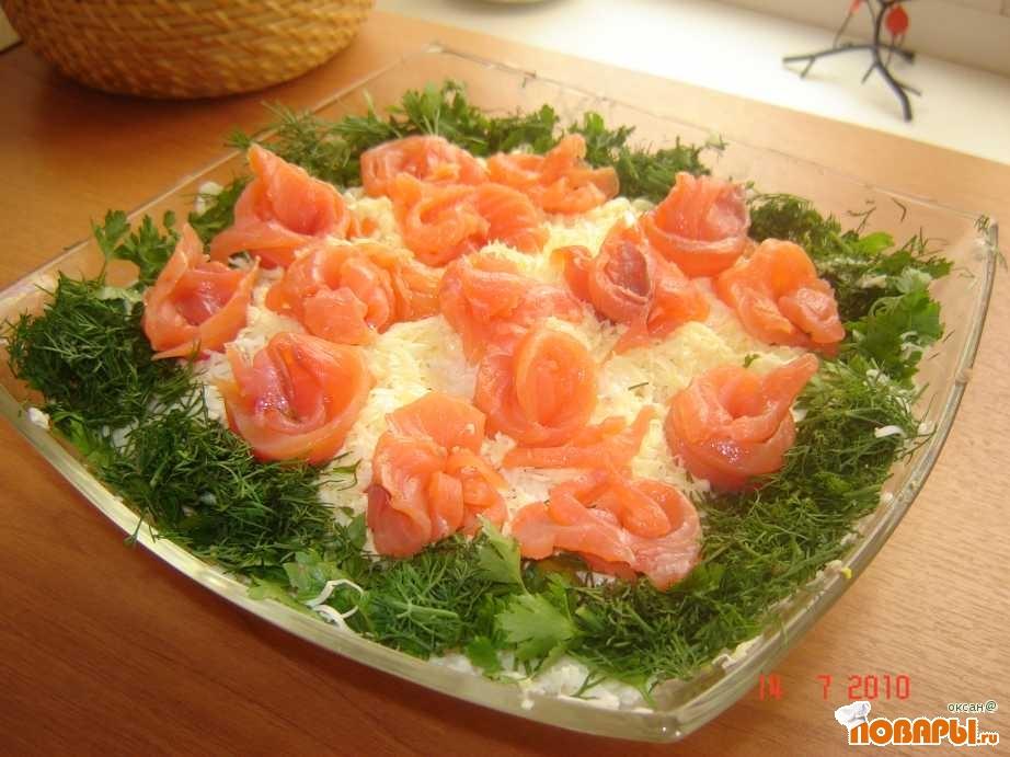 """Рецепт салат """"Розочки"""""""