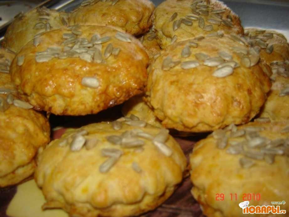Рецепт Сырное печенье с тыквой и жаренным луком