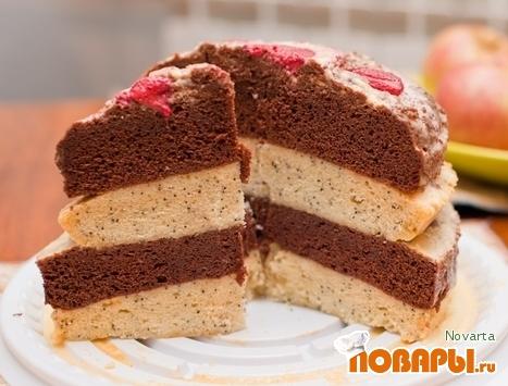 Рецепт Деньрожденный торт в микроволновке