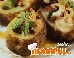 Рецепт Картофель, фаршированный креветками