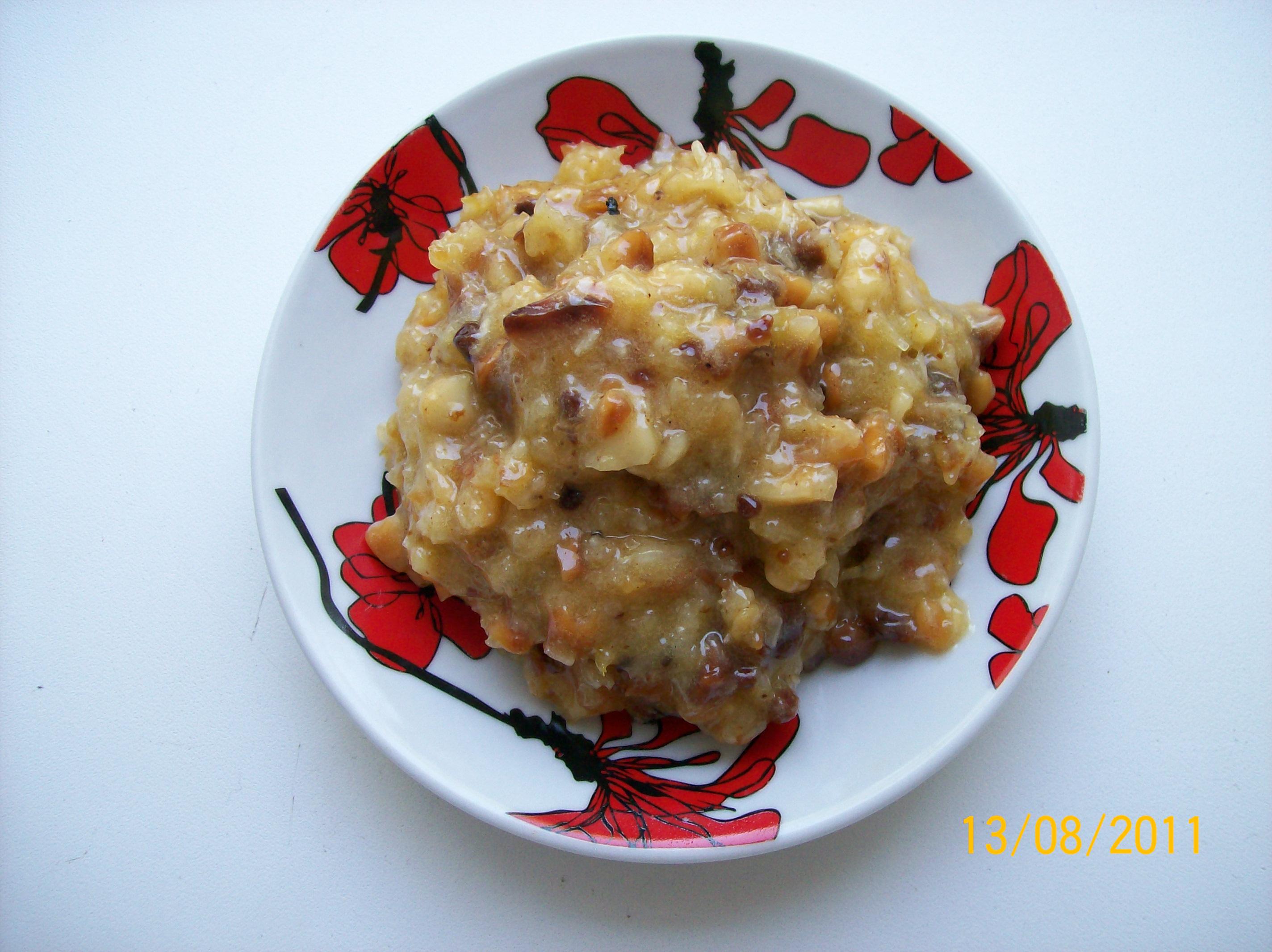 Рецепт Cливочный крем с арахисом и кокосовой стружкой