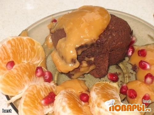 Рецепт Moelleux au chocolat (Шоколадное пирожное с жидкой начинкой)