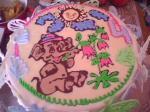 Торт со слоном и бабочками.