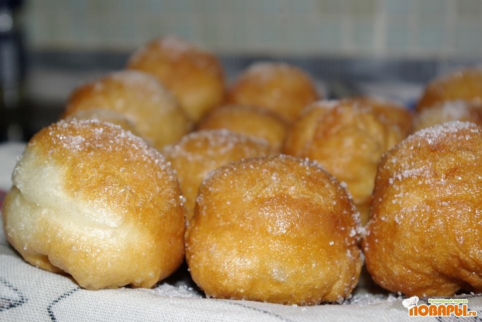 Рецепт Пончики в лимонном сиропе