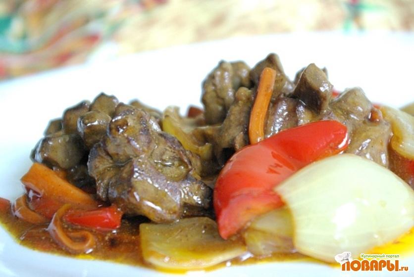 Рецепт Бараньи сердечки в кисло-сладком соусе