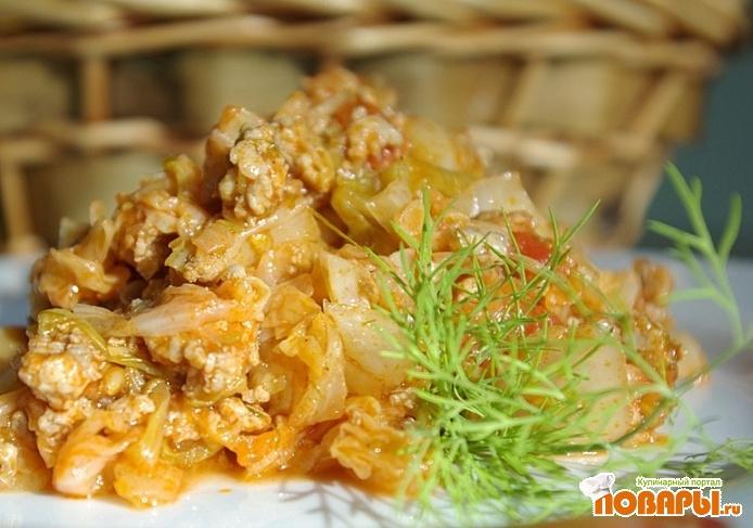 Рецепт Ленивые голубцы в томатном соке, без риса