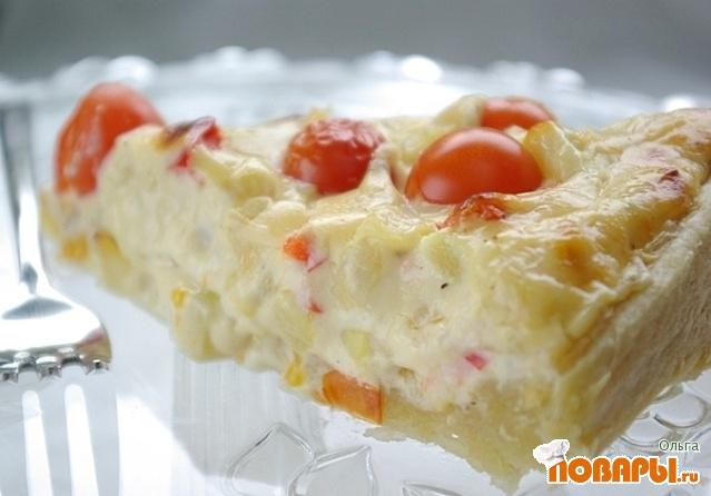 Рецепт Пирог с кабачками и плавленным сыром