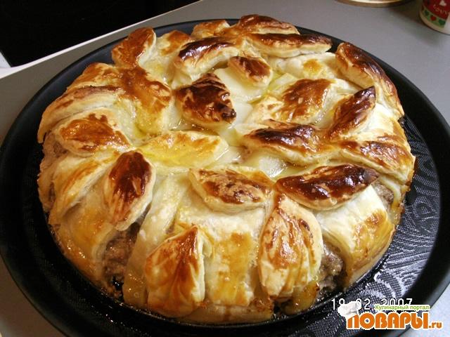 Рецепт Полупирог из мясного фарша с яйцами