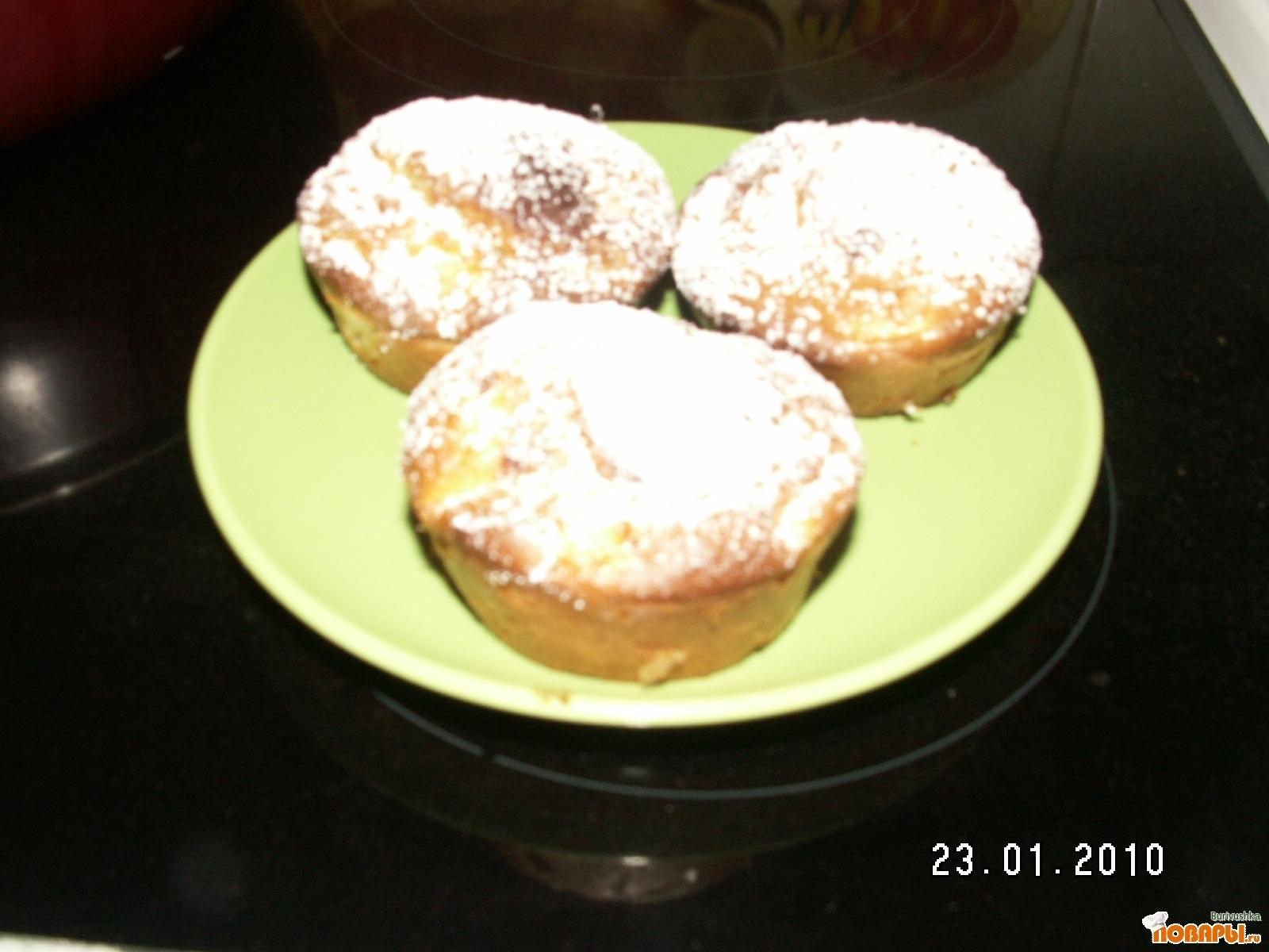 Рецепт Маффины с яблоками