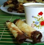 Рецепт Печенье-трубочки