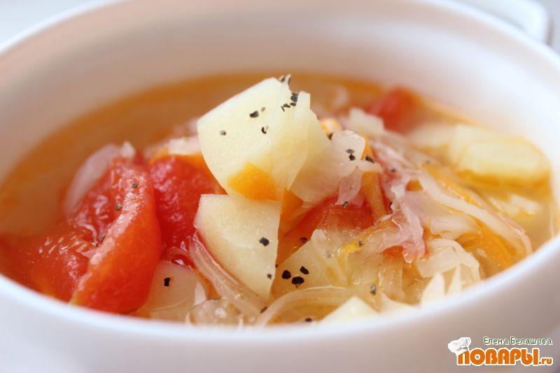 Рецепт Быстрый и простой суп с квашеной капустой
