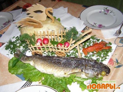 Рецепт Блюдо для юбилея - Лебедь, Рак и Щука
