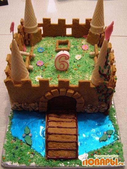 Как сделать торт замок с фото