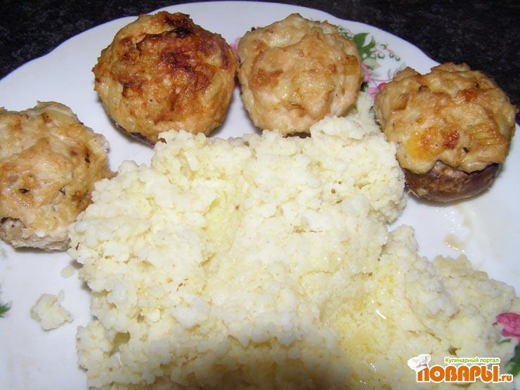 Рецепт Грибы с куриным фаршем