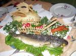 Блюдо для юбилея - Лебедь, Рак и Щука