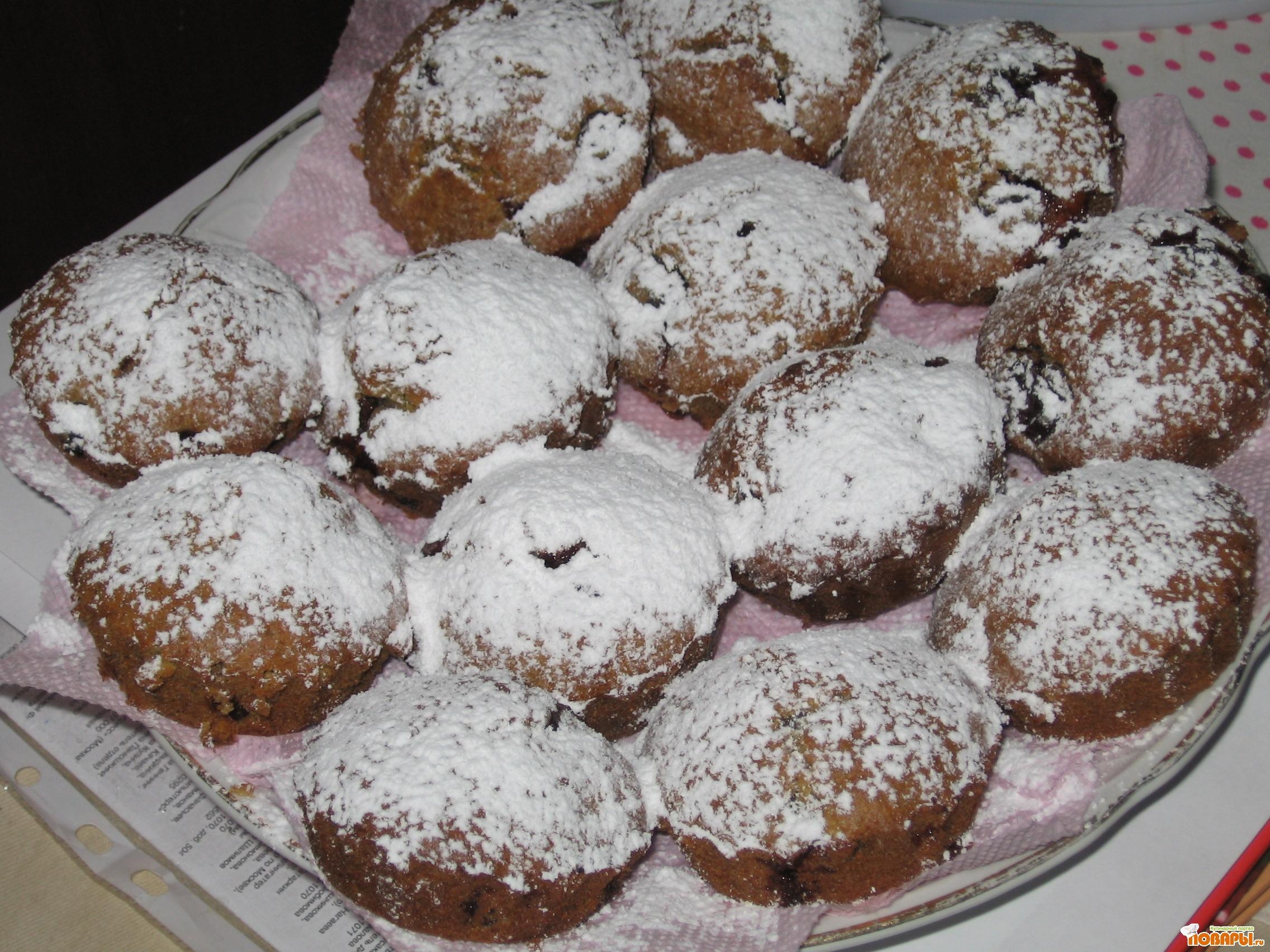 Рецепт кексики с вишней