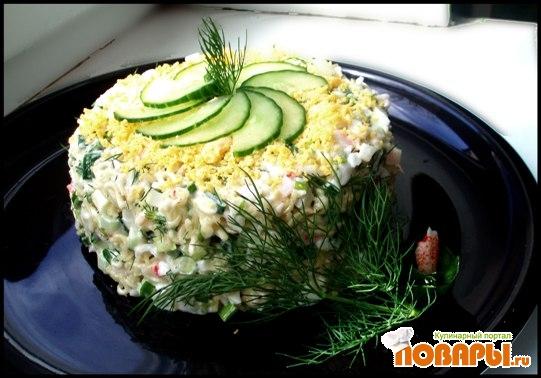 "Пошаговое фото рецепта Салат Новинка "": салаты с шампиньонами рецепты..."