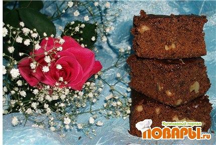 Рецепт Шоколадно-ореховый пирог