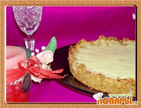 Рецепт Cырный пирог с овсяными хлопьями