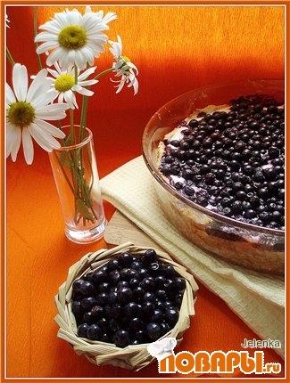 Рецепт Творожно-черничный пирог II