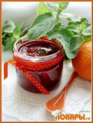 Рецепт Клубничный джем с апельсином